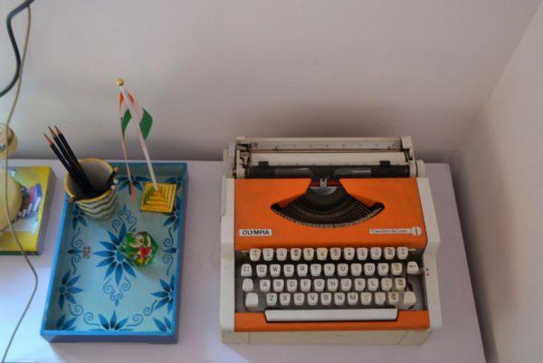 Vintage typewriter from the sunday market bangalore