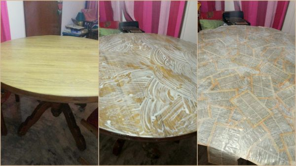 DIY Decoupaged Table