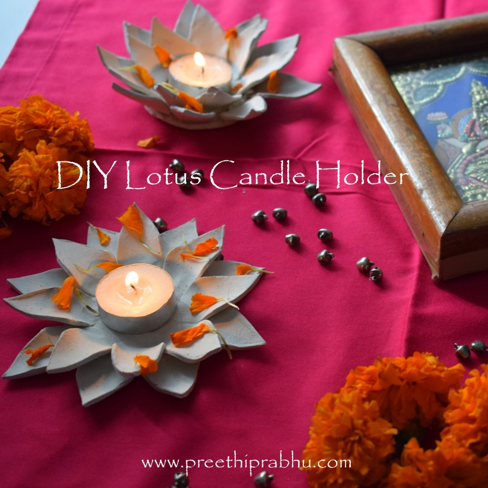 DIY: Clay Lotus Candle Holder