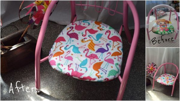 Changing the upholstery of a baby chair
