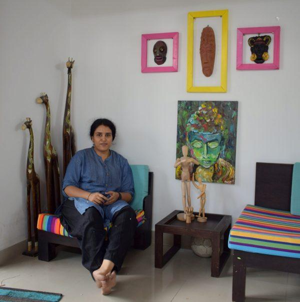 Girija Hariharan in her home