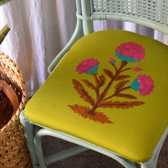 DIY fabric stencil painting