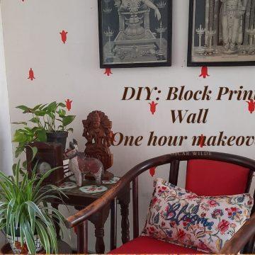 DIY – Block Print Wall (The Viral Quarantine DIY)